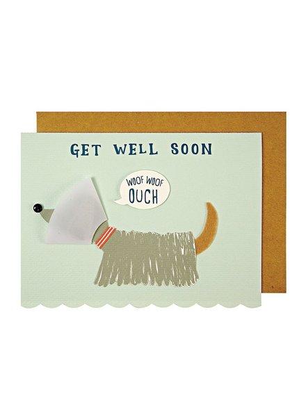 Meri Meri Beterschap kaartje Get Well Soon Woof
