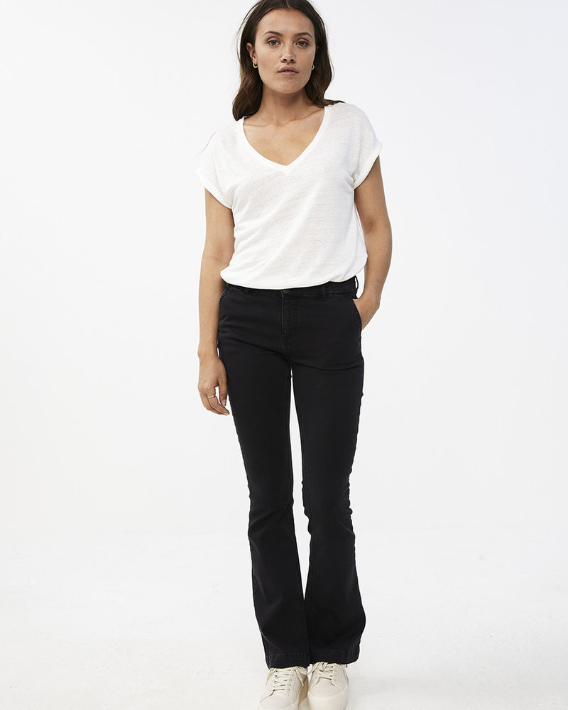 By Bar Mila Linen Top Off-white