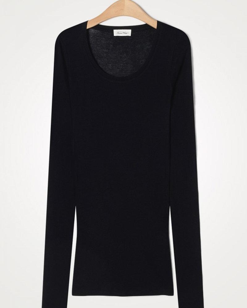 American Vintage Massachusetts Mas04 T-shirt Noir