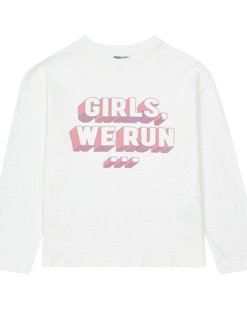 """Hundred Pieces Shirt met lange mouwen """"Girls, we run"""""""