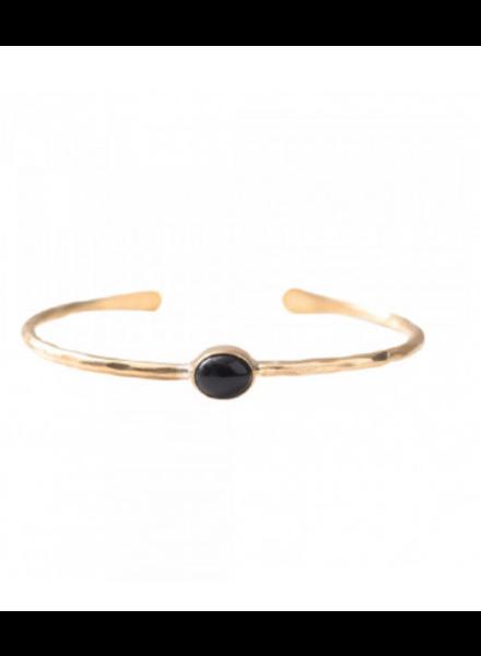 A Beautiful Story Moonlight Bracelet Black Onyx Gold