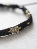 A Beautiful Story Summerlight Bracelet Onyx Black Gold plated