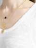 A Beautiful Story Divine Necklace Black Onyx Gold