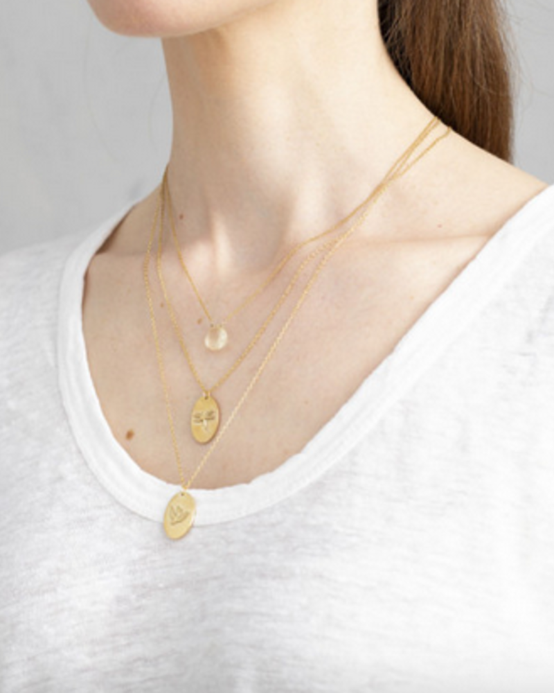 A Beautiful Story Divine Necklace Citrine Gold