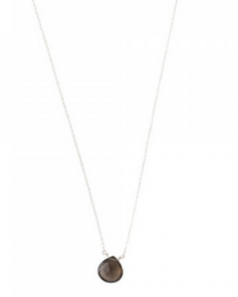 A Beautiful Story Divine Necklace Smokey Quartz Silver