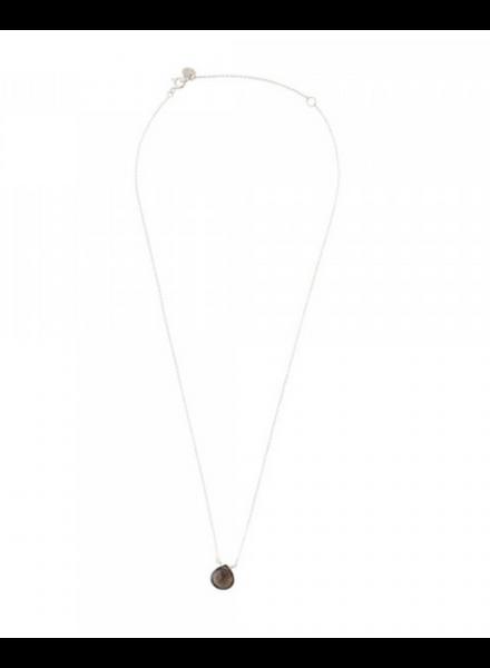 A Beautiful Story Divine Necklace Smokey Quartz Silver