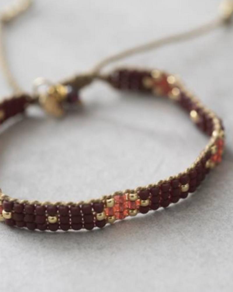 A Beautiful Story Summerlight Bracelet Garnet Gold
