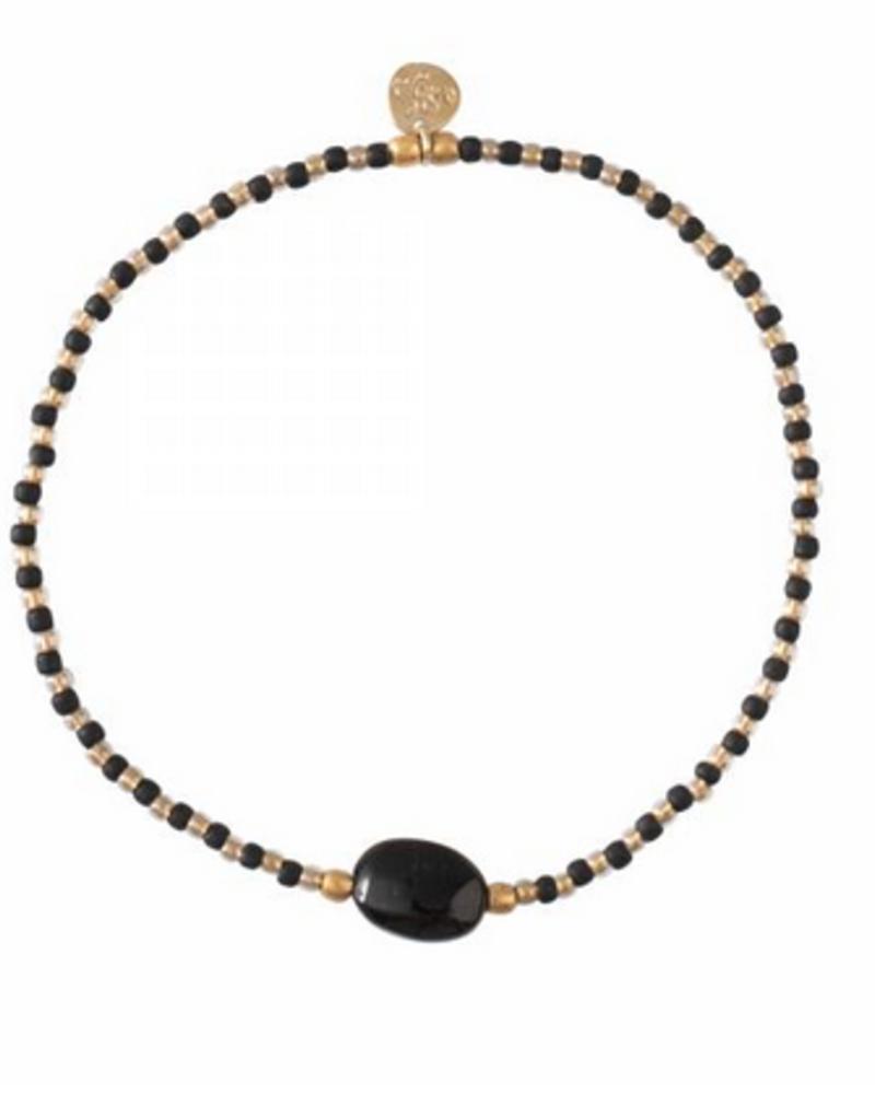 A Beautiful Story Winter Bracelet Black Onyx Gold