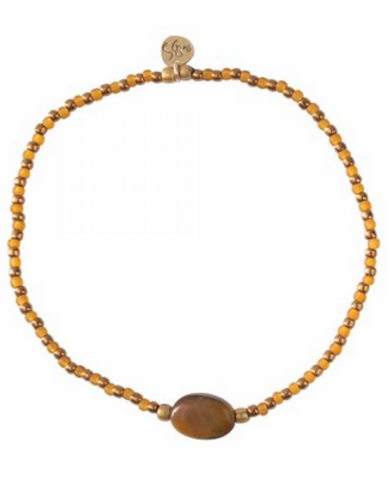 A Beautiful Story Winter Bracelet Tiger Eye Gold