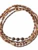 A Beautiful Story Together Bracelet Garnet Gold