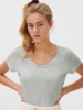 American Vintage T-shirt U-hals KM Jacksonville - Crème Chiné