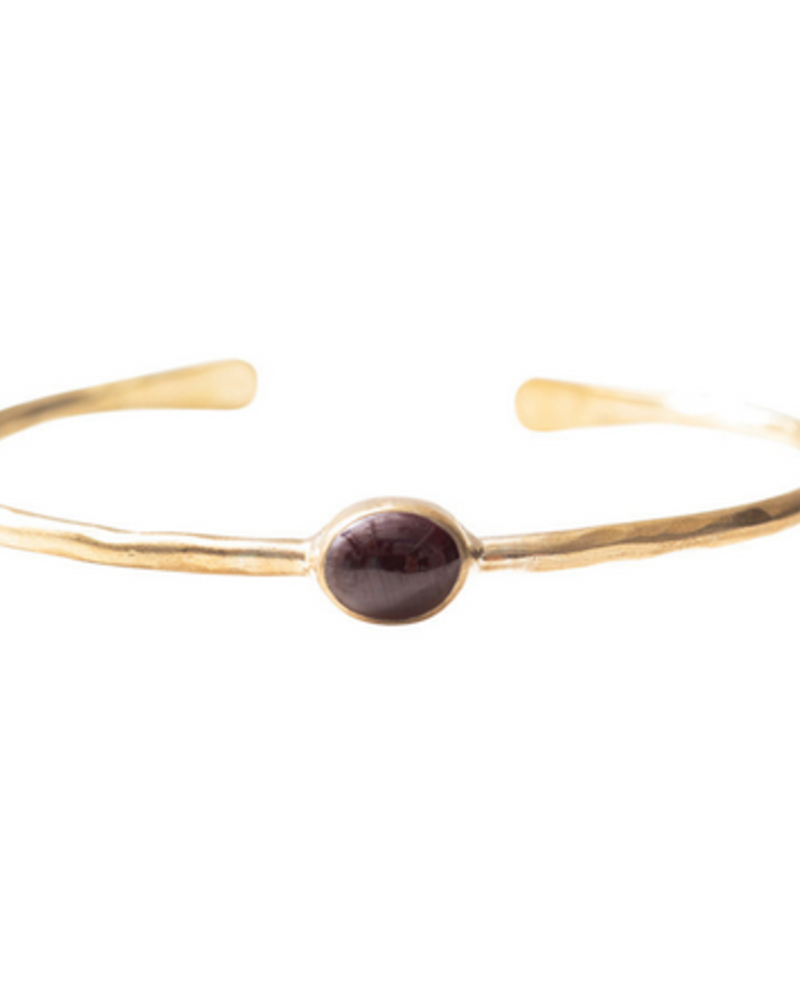 A Beautiful Story Moonlight Bracelet Garnet Gold