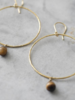 A Beautiful Story Embrace Earrings - Tiger Eye Gold