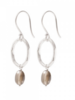 A Beautiful Story Graceful Earrings - Smokey Quartz Silver