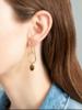 A Beautiful Story Graceful Earrings - Tiger Eye Gold