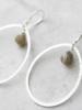 A Beautiful Story Ellipse Earrings - Labradorite Silver