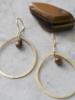 A Beautiful Story Ellipse Earrings - Tiger Eye Gold