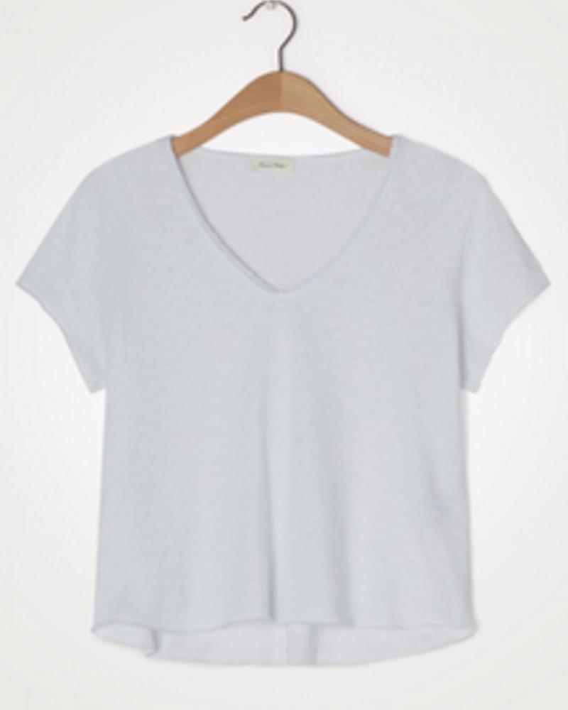 American Vintage T-shirt korte mouw V-hals Sonoma - Blanc