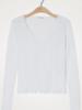 American Vintage T-shirt lange mouw V-hals Sonoma - Blanc