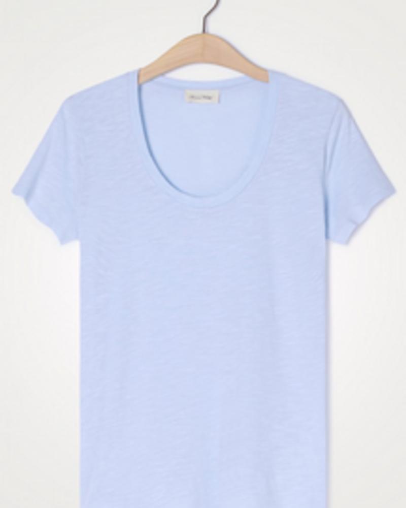 American Vintage T-shirt U-hals KM Jacksonville  - Sky Blue Vintage