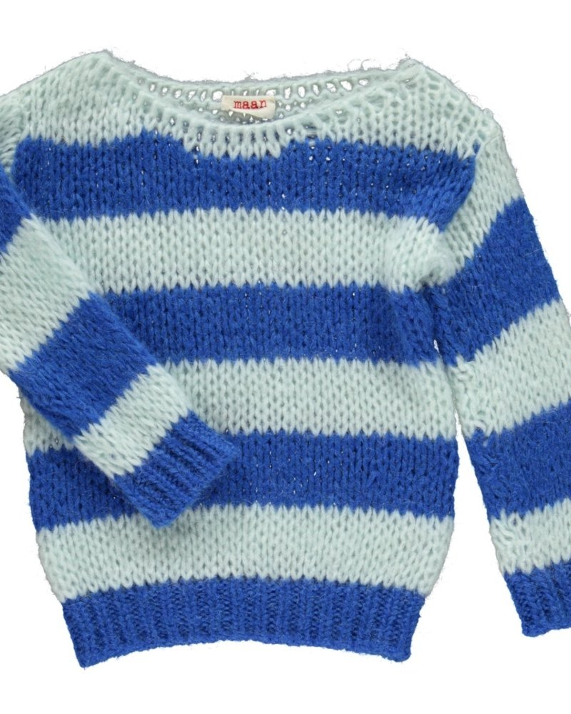 Maan Pull Angel Knitted Jumper - Navy