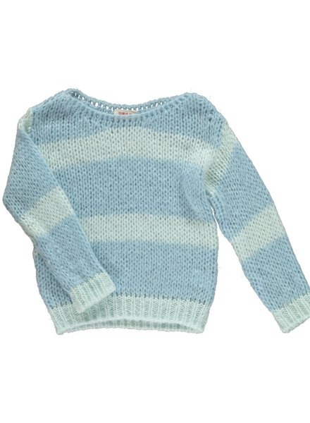 Maan Pull Angel Knitted Jumper - Sky
