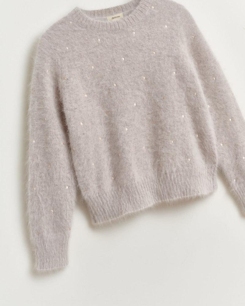 Bellerose Zachte gebreide trui - licht grijs