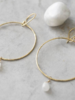 A Beautiful Story Embrace Earrings - Moonstone Gold