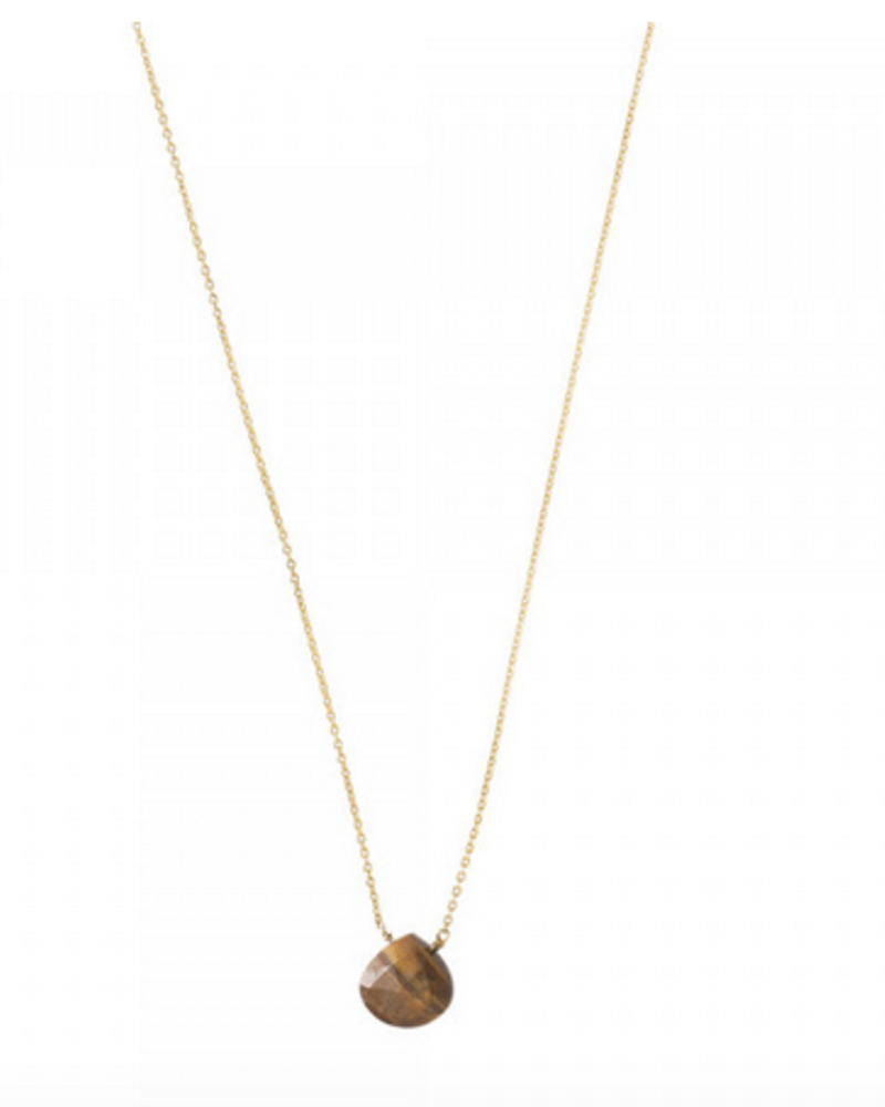 A Beautiful Story Divine Necklace Tiger Eye Gold