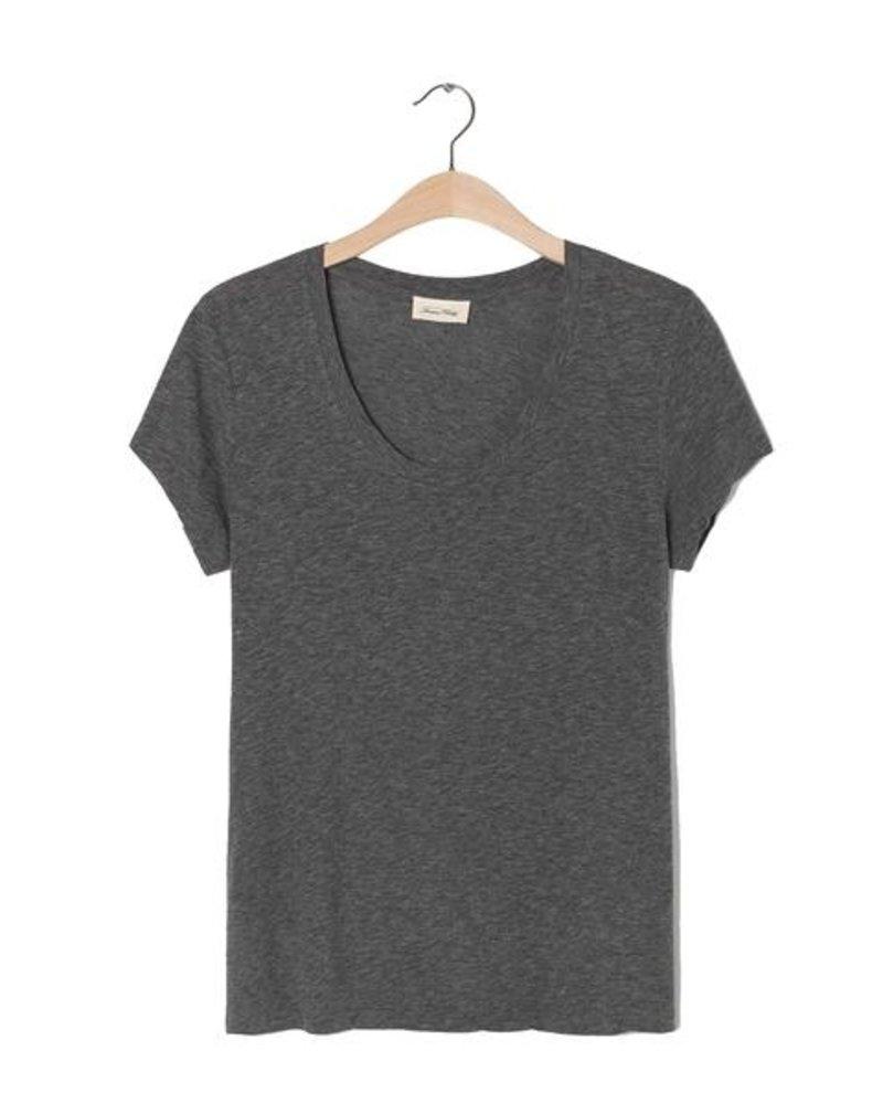 American Vintage T-shirt Jacksonville Gris Chiné