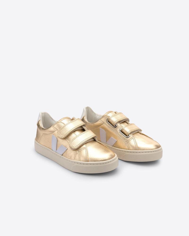 Veja Small Esplar Velcro Kids - Platine/White