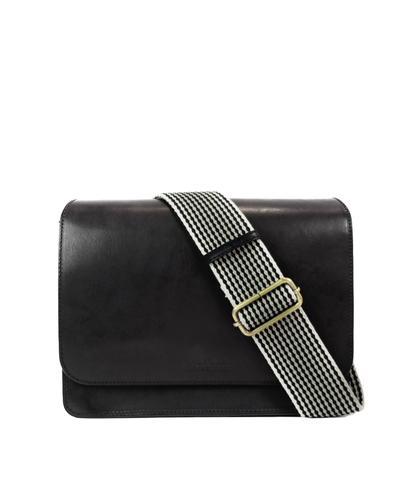O My Bag Audrey Classic Leather Checkered Strap