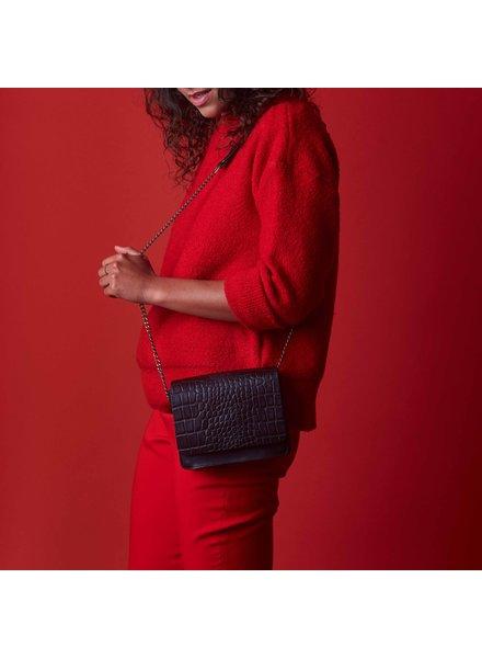 O My Bag Audrey Mini Classic Leather Chain Strap