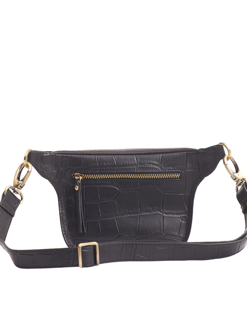 O My Bag Beck's Bum Bag Croco Leather Strap