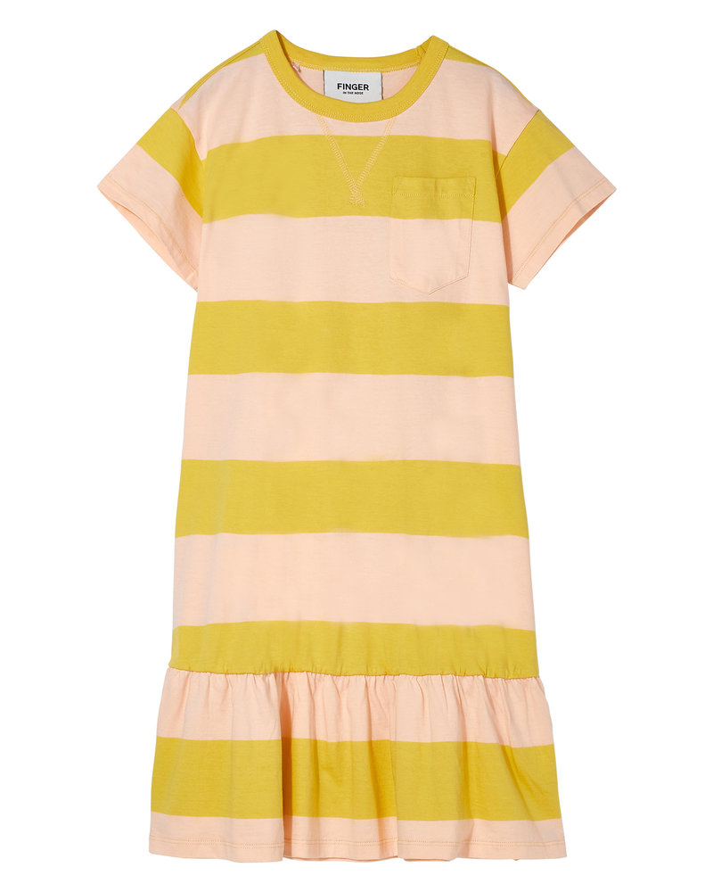 Finger in the nose Oversized kleed Patti Mustard/Peach Stripes