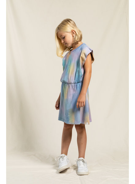Finger in the nose Mouwloos kleed Billie Rainbow Tie & Dye