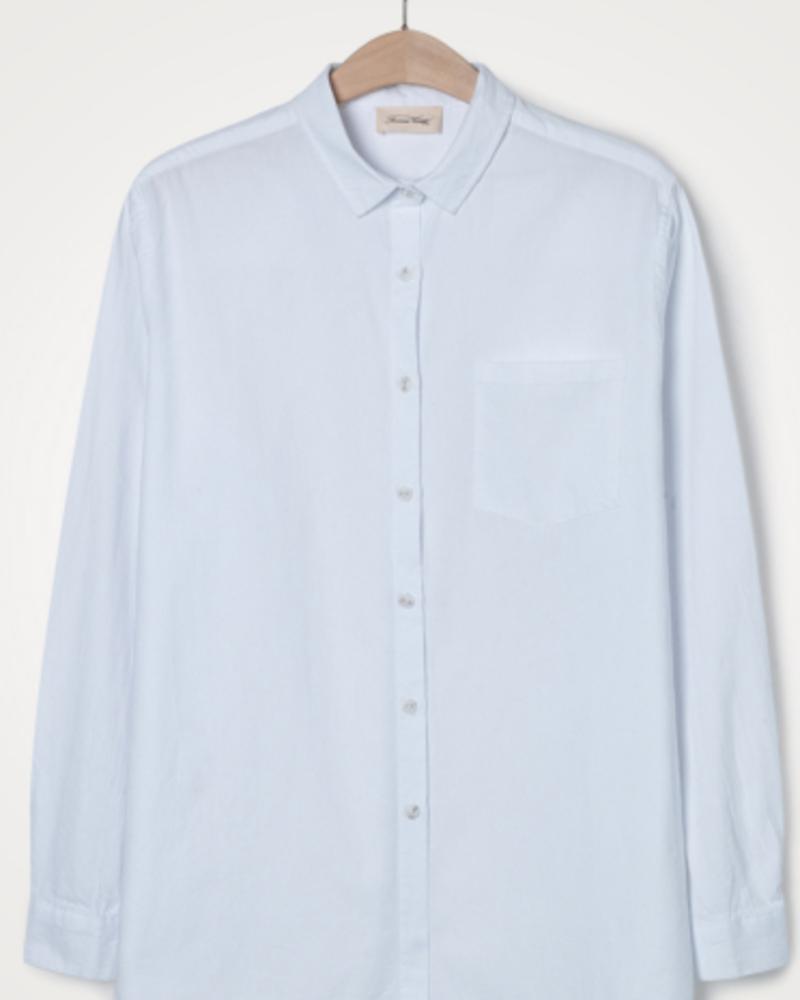 American Vintage Wit klassiek hemd met LM Pizabay