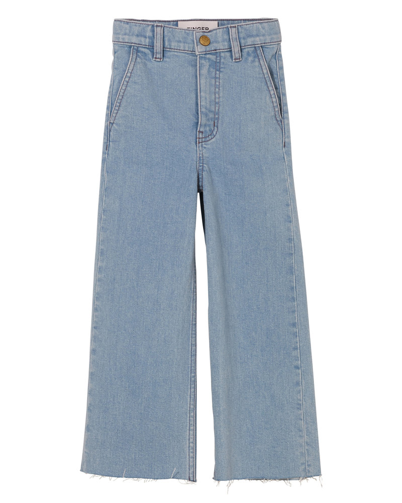 Finger in the nose Loose Fit Cropped Jeans Charlie Bleached Blue