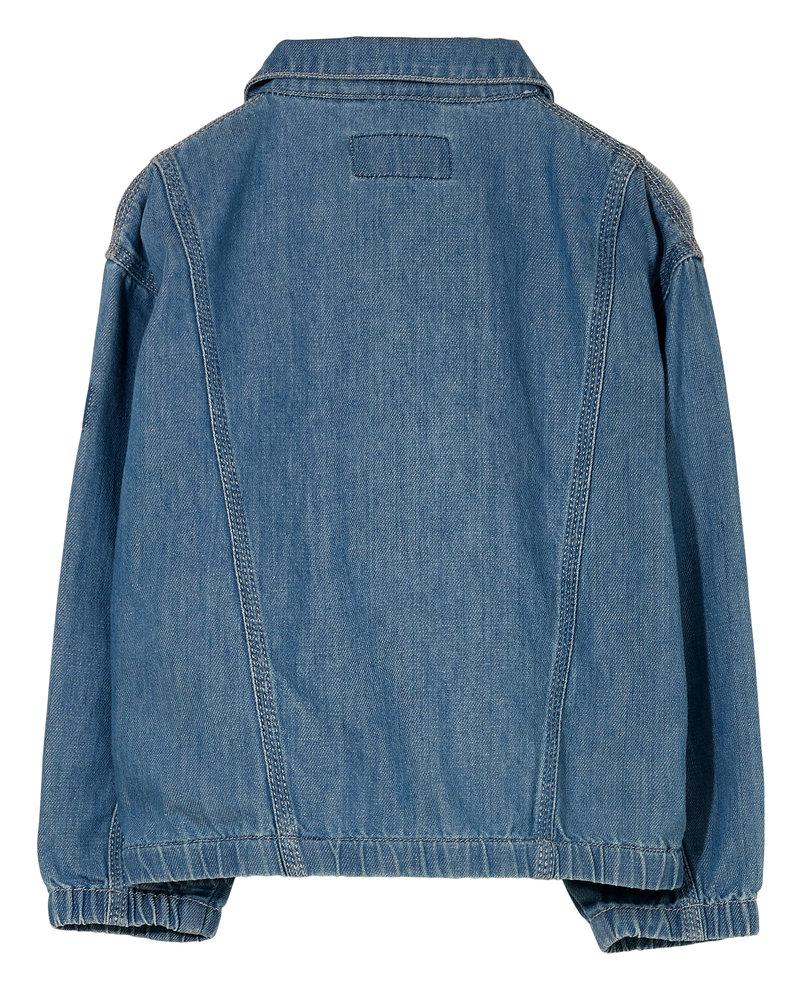 Finger in the nose Oversized Fit Denim Jacket Flynn Bleached Blue