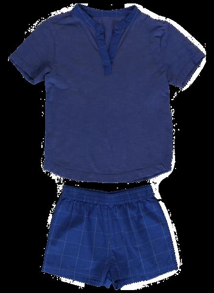 Dorélit Pyjama Ebre/Mars Check Blue