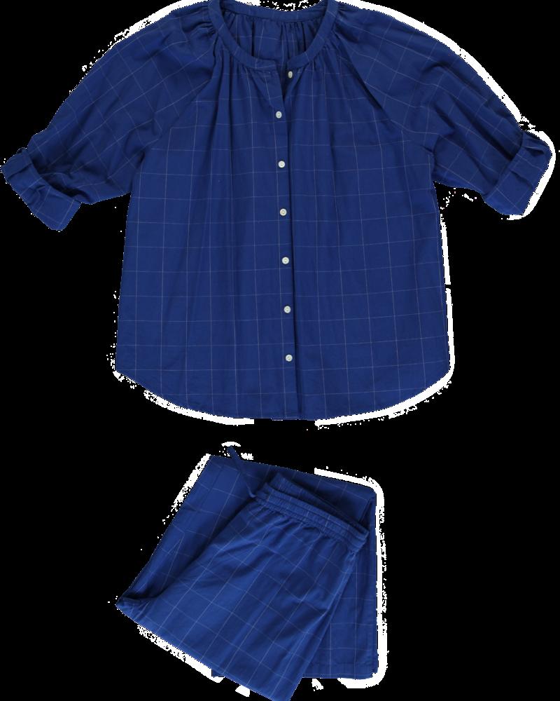 Dorélit Pyjama Dames Elly/Alkes Check Blue