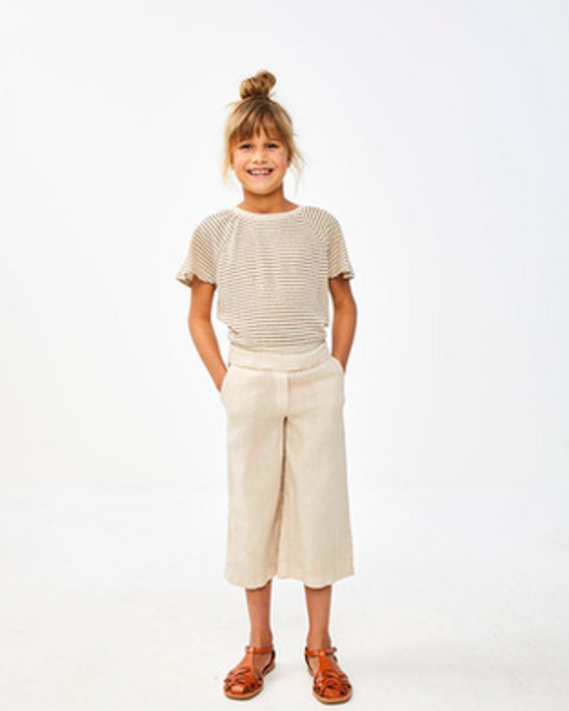 By Bar Girls Iines Linen Pant Sand