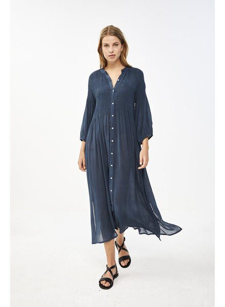 By Bar Loulou Dress Oil Blue