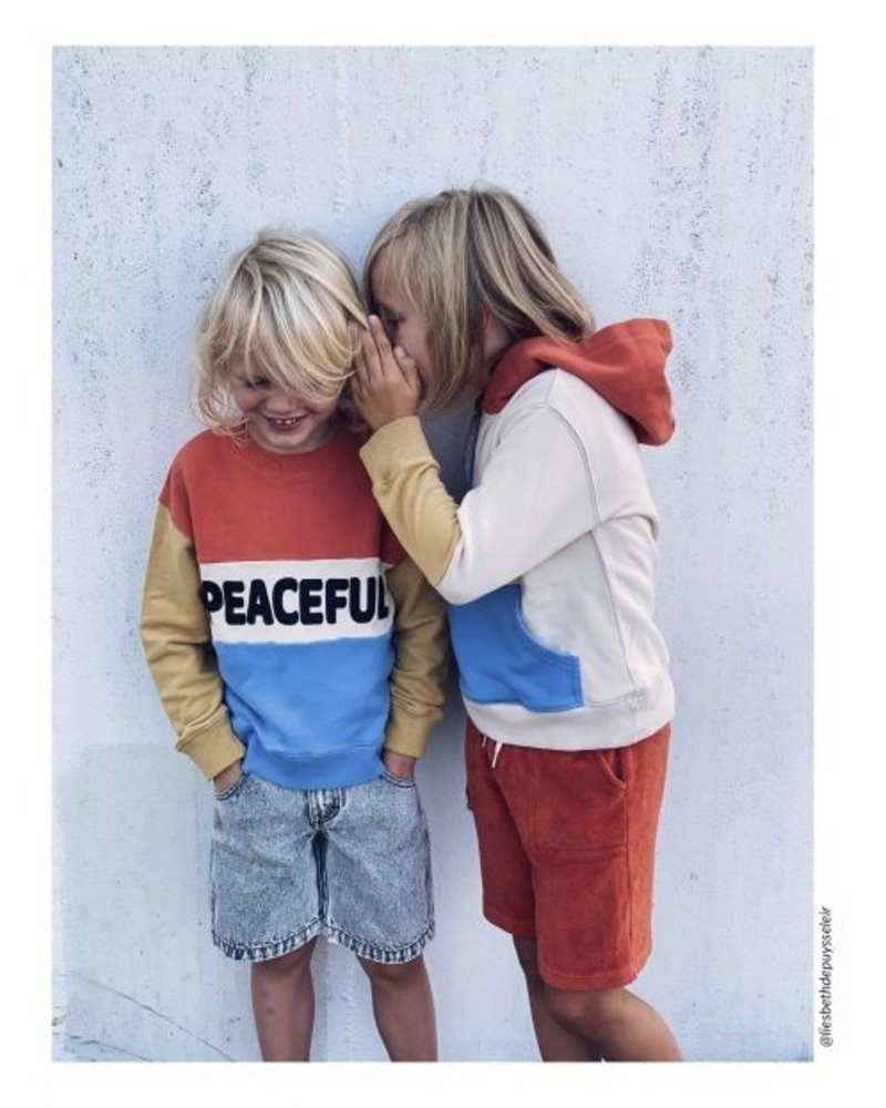 Hundred Pieces Peaceful Organic Cotton Jumper Blue