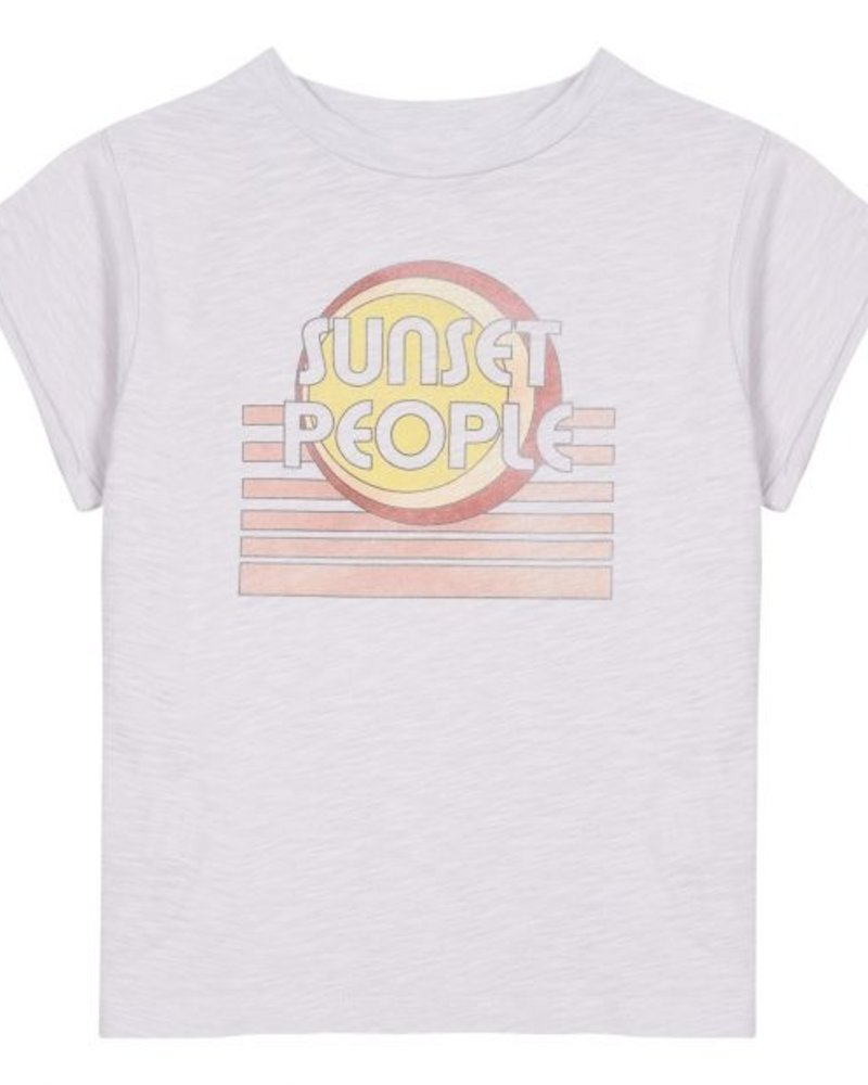 Hundred Pieces Sunset Cotton T-Shirt Lilac
