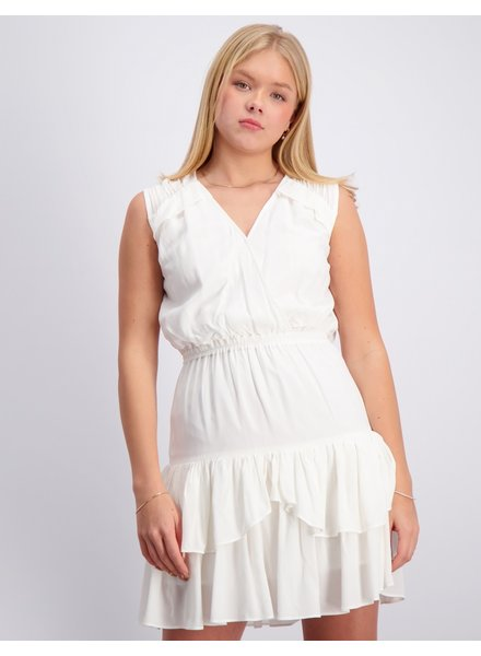 Little Remix Designers Eliza Ruffle Dress Cream