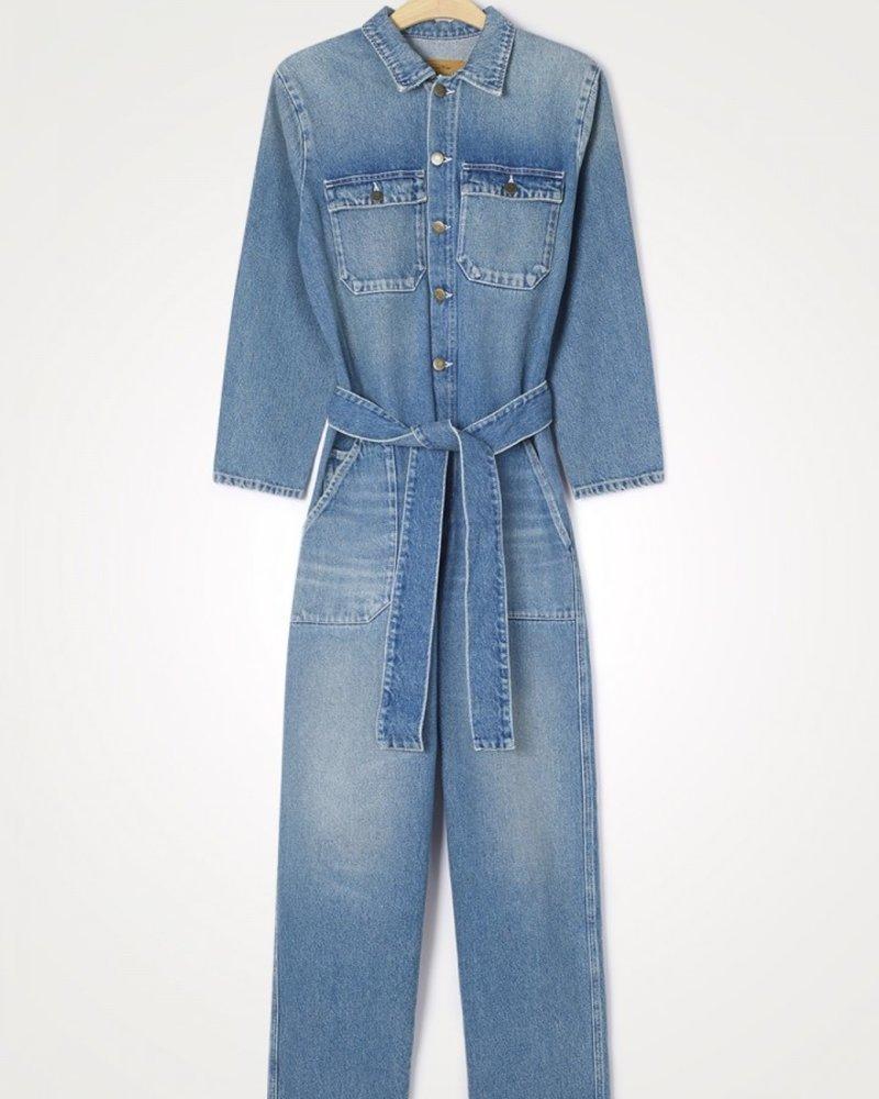 American Vintage Busborow  jumpsuit Blue Dirty