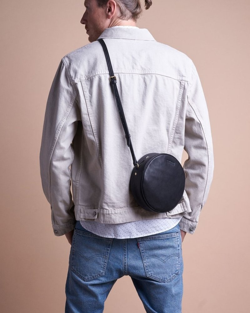 O My Bag Luna Bag Black soft grain leather
