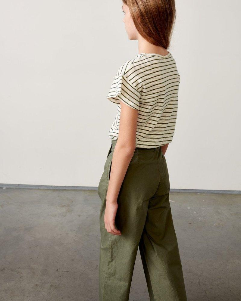 Bellerose T-shirt Vou Stripe groen