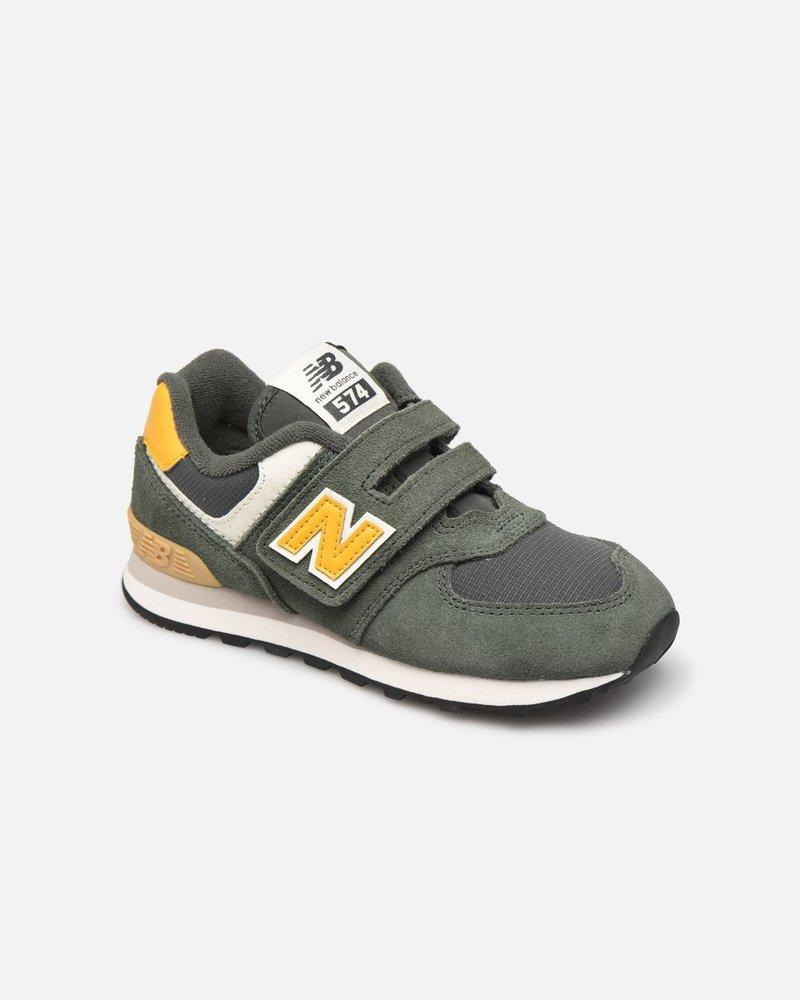 New Balance Velcro Kaki/Geel 28-35